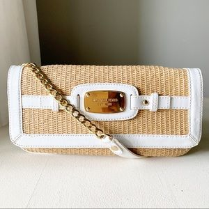 Michael Kors - Raffia White Patent Leather Gold